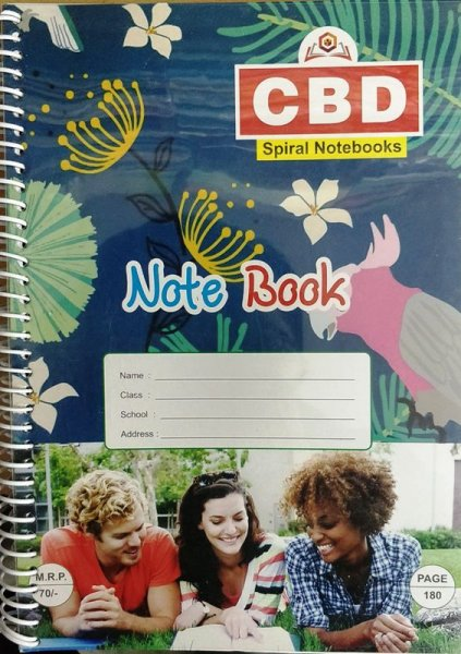 CBD Spiral Notebook A4 size Single Line Soft Cover 380 page