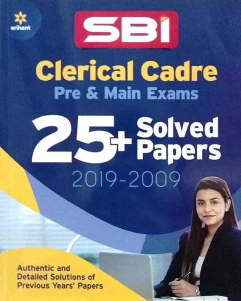 Arihant SBI Clerical Cadre Pre and Main Exam 25 solved paper 2019 to 2009
