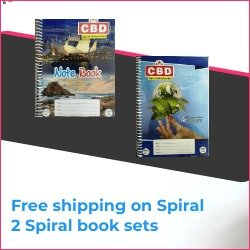 CBD Spiral Notebook 2 Sets A4 size Single Line Soft Cover