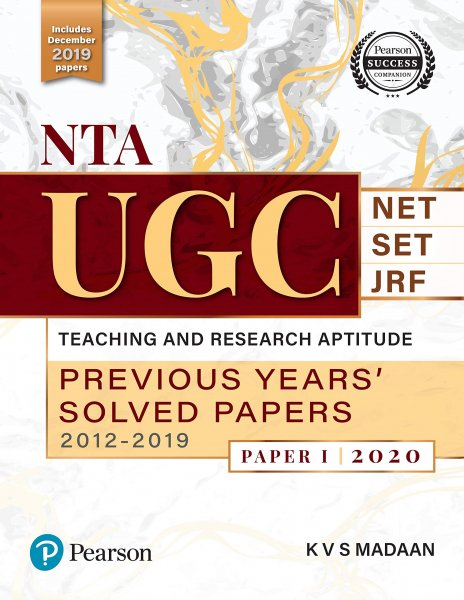 PEARSON KVS MADAAN NTA UGC NET PAPER 1 PREVIOUS YEARS SOLVED PAPERS
