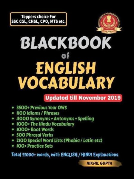 BLACKBOOK OF ENGLISH VOCABULARY BY NIKHIL GUPTA SSC ENGLISH VOCABULARY