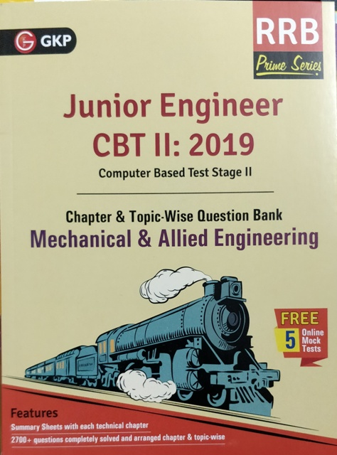 GKP RRB JE MECHANICAL & ALLIED ENGINEERING CBT II