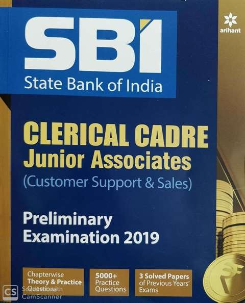 ARIHANT SBI Clerk Junior Associates Pre Examination 2020