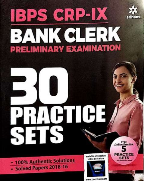 ARIHANT IBPS BANK CLERK PRELIMINARY EXAMINATIONS 30 PRACTICE SETS (e)
