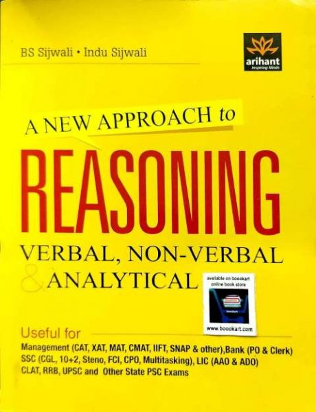 ARIHANT A NEW APPROACH TO REASONING VERBAL NON VERBAL & ANALYTICAL BY BS SIJWALI INDU SIJWALI