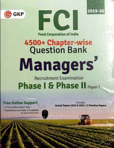 GKP FCI MANAGERS PHASE 1 & PHASE II PAPER 1