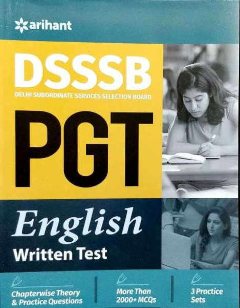 Arihant DSSSB PGT English written test