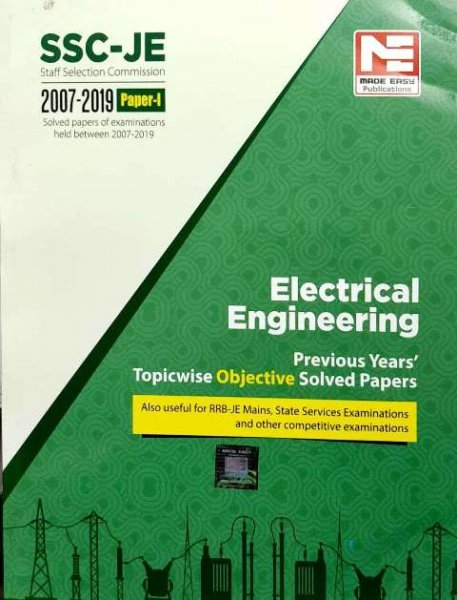 MADE EASY SSC JE ELECTRICAL ENGINEERING PREVIOUS YEAR TOPICWISE OBJECTIVE SOLVED PAPER