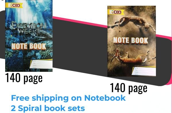CBD Notebook 2 Sets A4 size Single Line Soft Cover